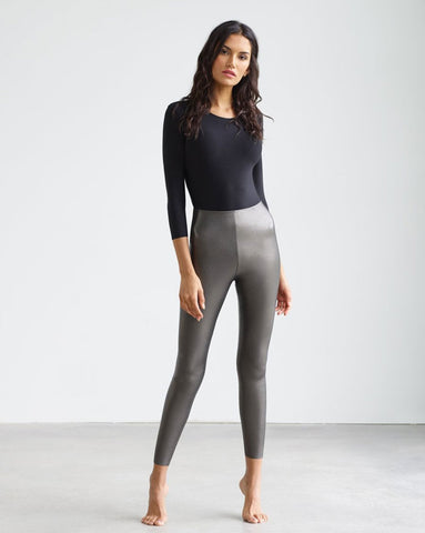 Commando Faux Leather Leggings in Gunmetal