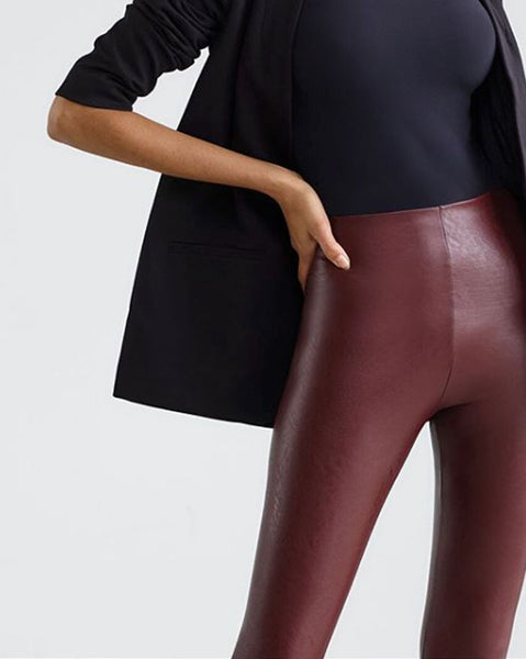 Commando Faux Leather Leggings in Oxblood