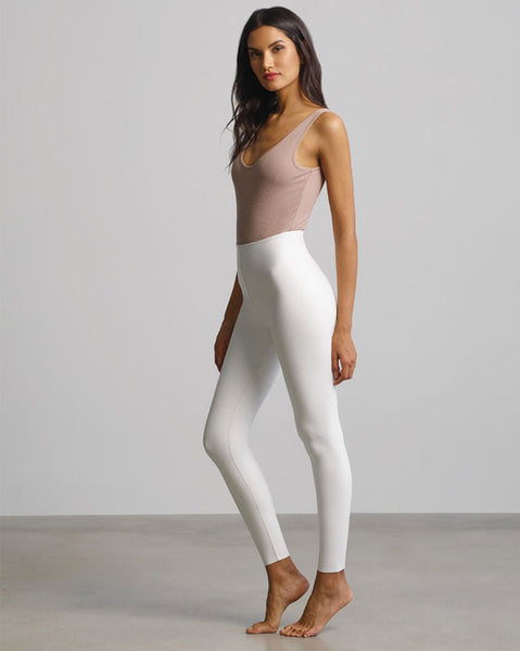 Commando Faux Leather Leggings in White