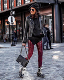 Commando Faux Patent Leather Leggings in Oxblood