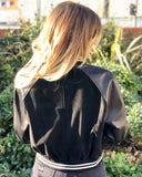 Fannie Porters Aces High Black Bomber Jacket