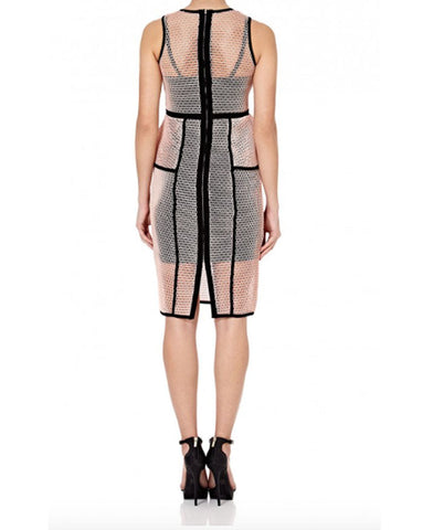 Forever Unique Lourdes Mesh Peplum Dress