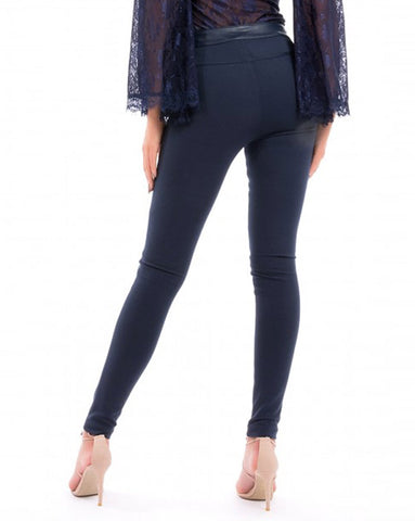 Forever Unique Nell Navy Leggings