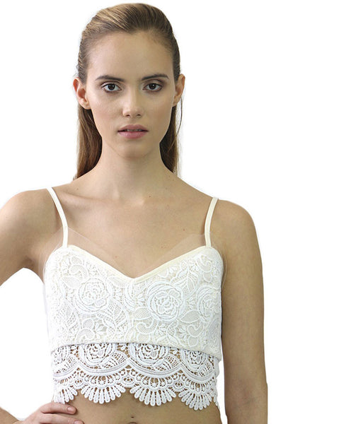 J J Studio Lucia Cream Crop Top