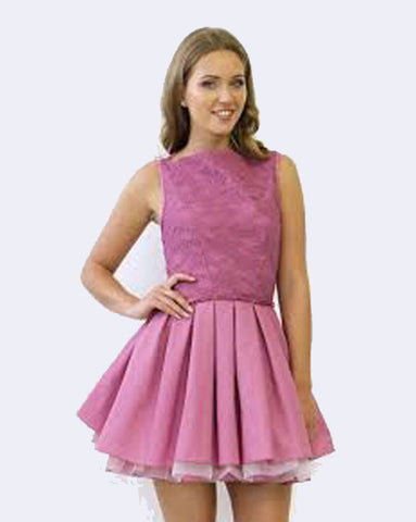 Jones and Jones Audrey Dress in Pink Rouge