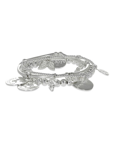 Joy Jewellery Set of Three Angel Bracelets