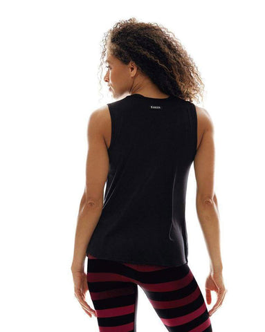 K-DEER Microflex Muscle Tank in Black