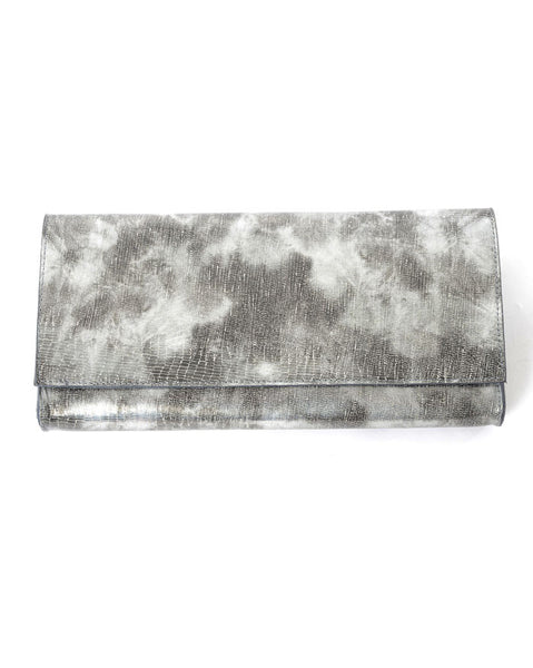 Leatherock Teju Clutch In Silver