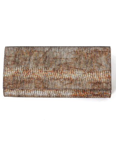 Leatherock Teju Clutch in Bronze