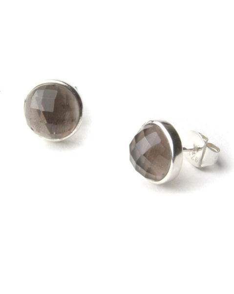 Lola Rose Susan Earrings In Grey Agate