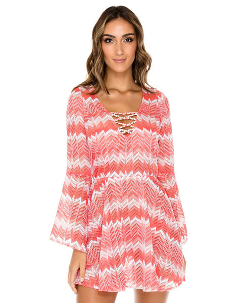 Luli Fama Amor Y Miel Bell Sleeve Dress