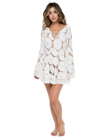 Luli Fama Flor de Tabaco Dress in Perla