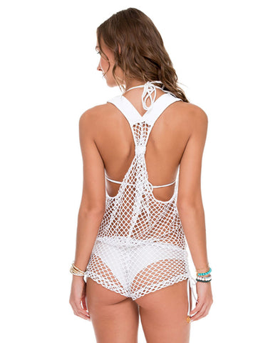 Luli Fama Sailors Kiss Fishnet T Back Romper