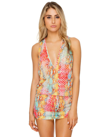 Luli Fama Smoke Show T Back Mini Dress