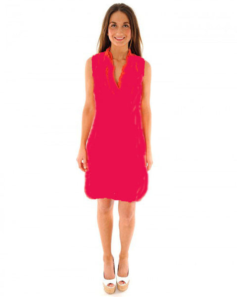 N & Willow Pizzo Dress in Geranium