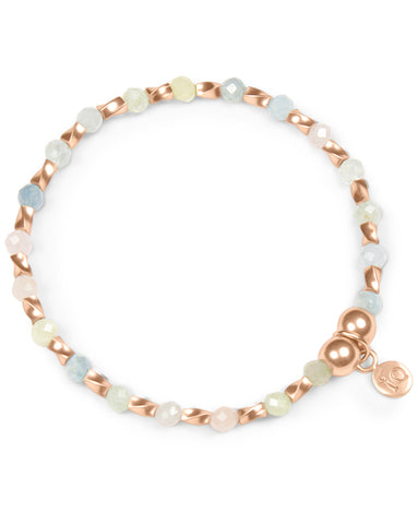Indigo Queen Pink Morganite and Rose Gold Vermeil Bracelet