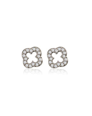 Penny Levi Silver Clover Earrings