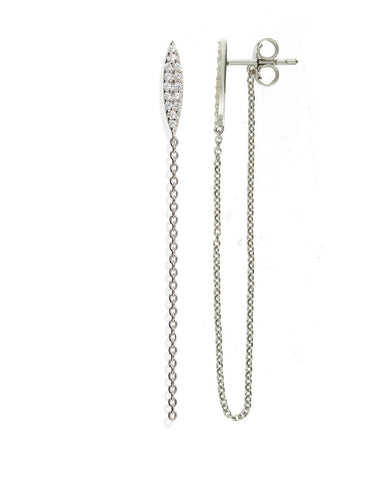 Penny Levi Ellipse Stud Earrings with Looped Chain