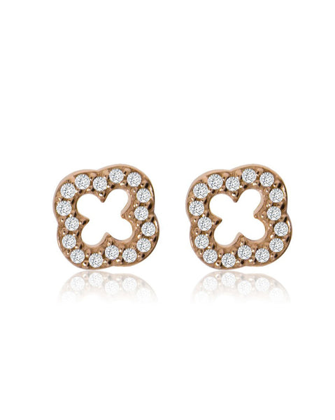 Penny Levi Rose Gold Clover Earrings