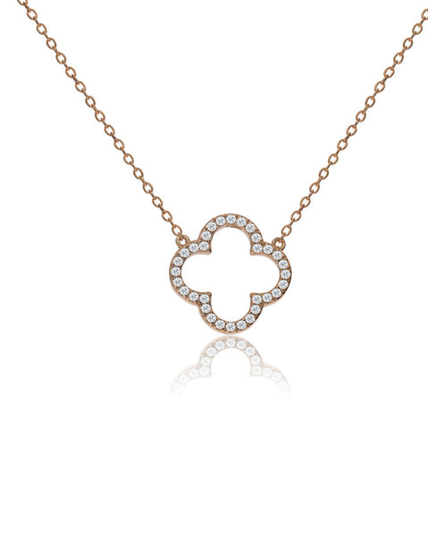Penny Levi Rose Gold Clover Necklace
