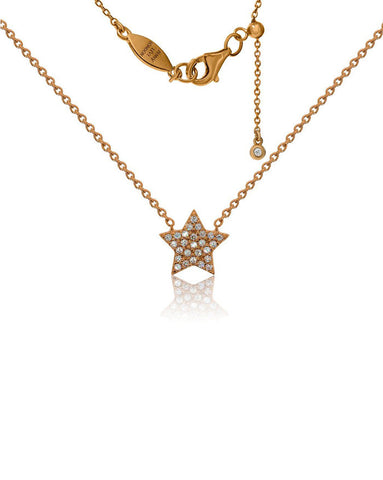 Penny Levi Rose Gold Star Necklace