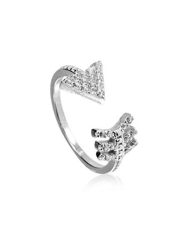 Penny Levi Silver Arrow Finger Nail Ring