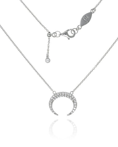 Penny Levi Silver Crescent Necklace