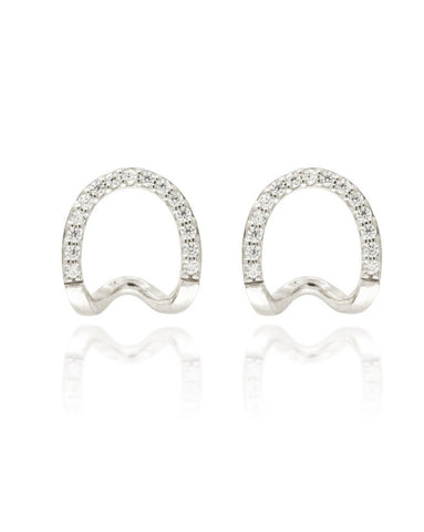 Penny Levi Silver Pave Ear Cuffs