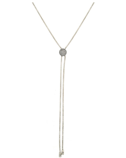 Penny Levi Silver Lariat Necklace