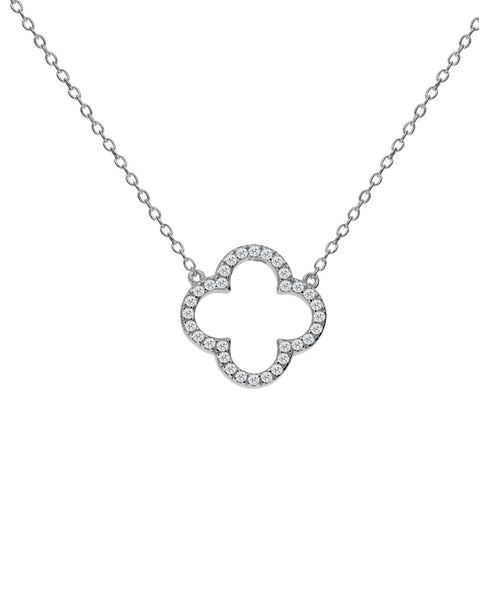 Penny Levi Silver Clover Necklace