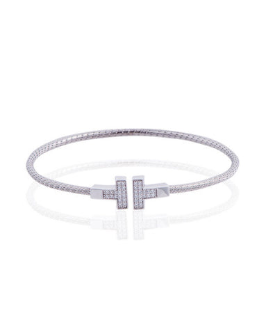 Penny Levi Coiled T Bangle Bracelet