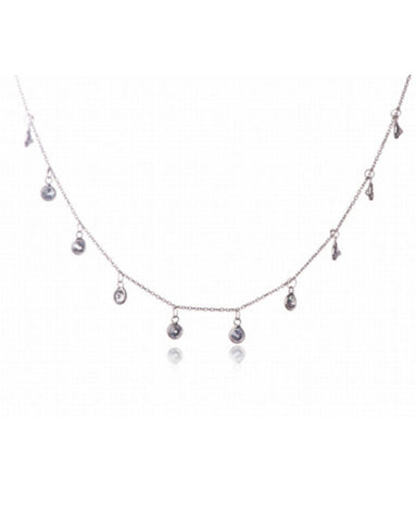 Penny Levi Sterling Silver Crystal Necklace