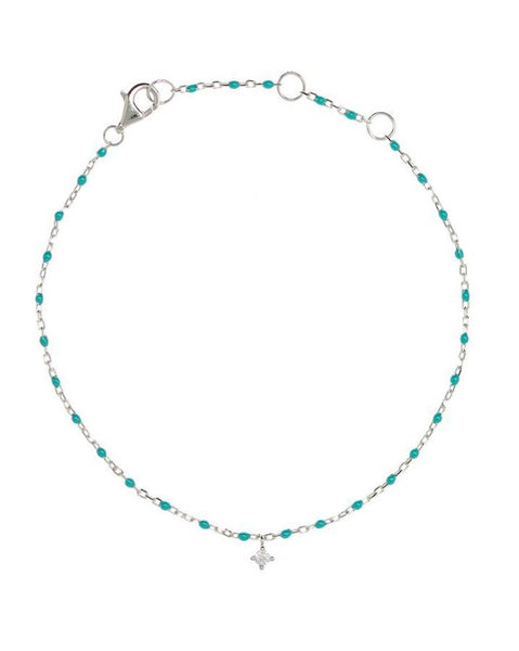 Penny Levi Sterling Silver and Turquoise Bead Bracelet