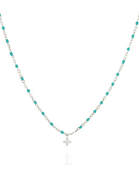 Penny Levi Sterling Silver and Turquoise Bead Necklace