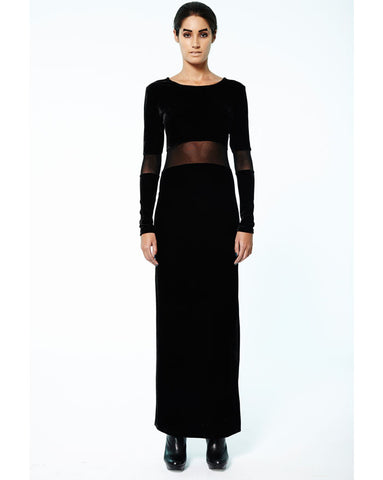 Prey of London Velvet Maxi Dress