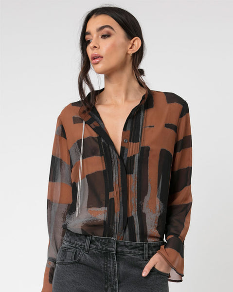 Religion Clothing Ara Blouse in Hero Print
