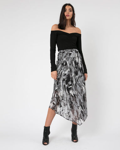 Religion Clothing Titan Midi Skirt in Drive Print