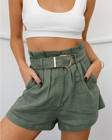 Runaway Belle Paper Bag Shorts