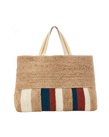 Seafolly Carried Away Jute Striped Tote