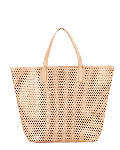 Seafolly Carried Away Rose Gold Vegan Leather Tote