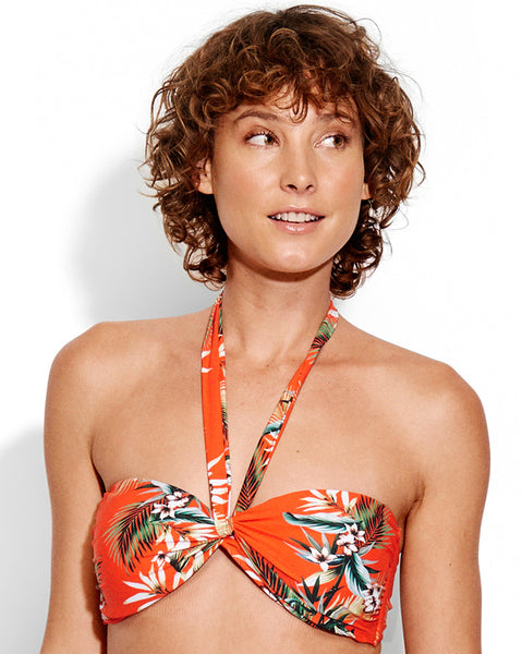 Seafolly Ocean Alley Twist Bandeau Bikini Top