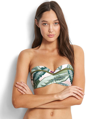 Seafolly Palm Beach Bustier Bandeau