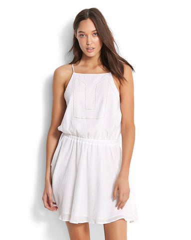 Seafolly Palm Beach Ladder Tape Dress