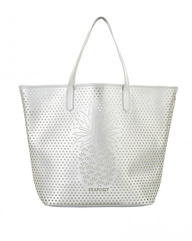 Seafolly Silver Pineapple Tote