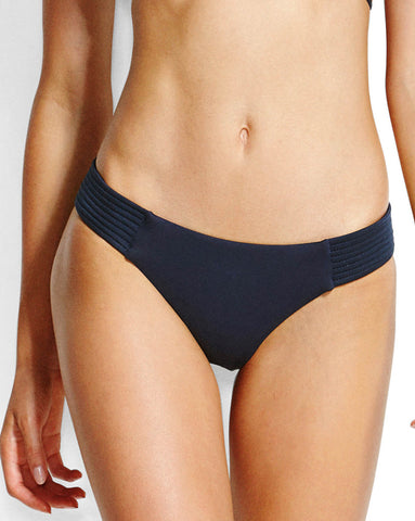 Seafolly Quilted Hipster Bikini Pant in Indigo