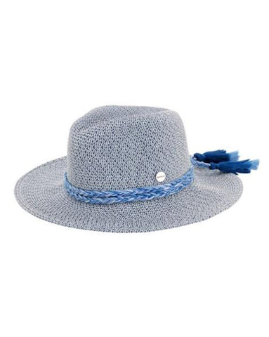 Seafolly Shady Lady Collapsible Fedora in Indigo