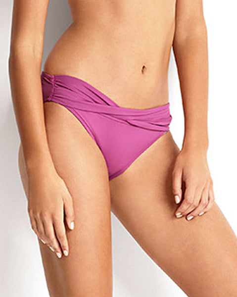 Seafolly Twist Band Hipster in Berry