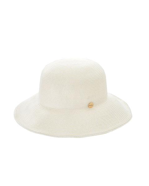 Seafolly White Newport Fedora