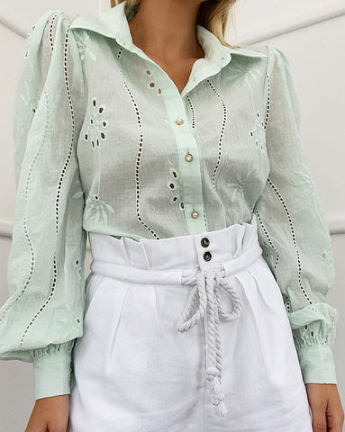 Seven Wonders Knowles Blouse in Mint Green