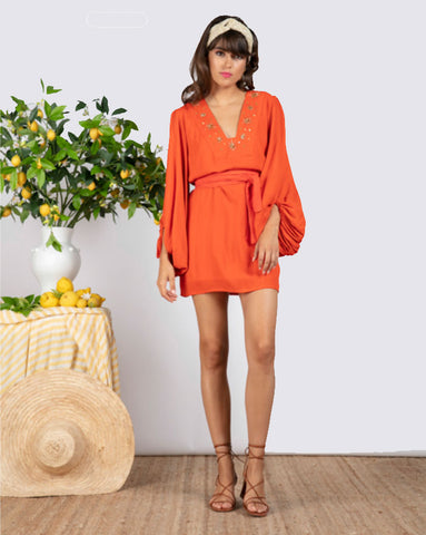 Sundress Augustine Dress in Orange